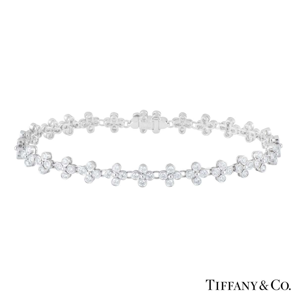 Tiffany & Co. Platinum Lace Diamond Bracelet